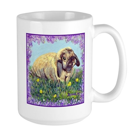 Holland Lop Rabbit Large Mug