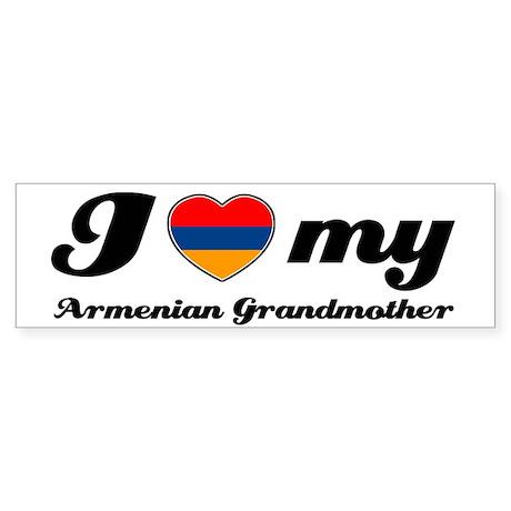I love My Armenian Grandmother Sticker (Bumper)