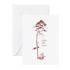 Make Wild Music~guitar Greeting Cards (Pk of 20)