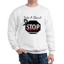 Melanoma Stop Cancer Sweatshirt