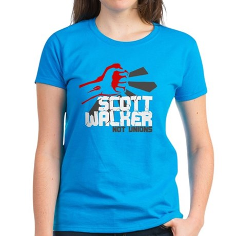 Smash Scott Walker Thugs Women's Dark T-Shirt