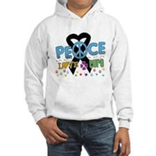 Melanoma Peace Love Cure Hoodie