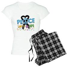 Melanoma Peace Love Cure Pajamas