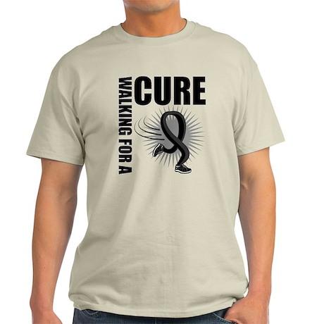 Melanoma Walking Ribbon Light T-Shirt