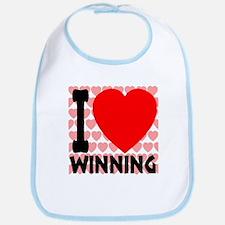 I Love Winning Bib