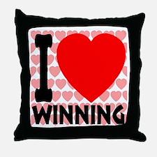 I Love Winning Throw Pillow