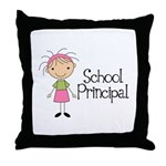 Principal School Lady Throw Pillow