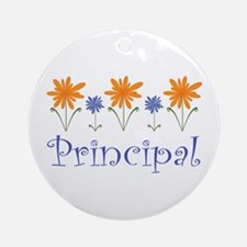 Principal Gift Flowered Ornament (Round)