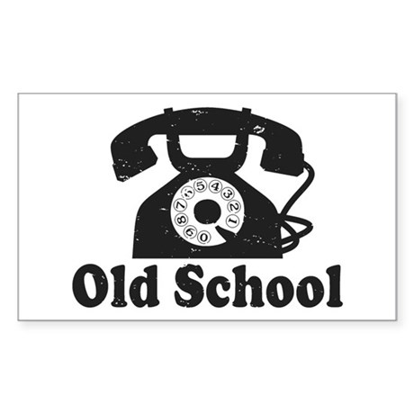 Old School Sticker (Rectangle)