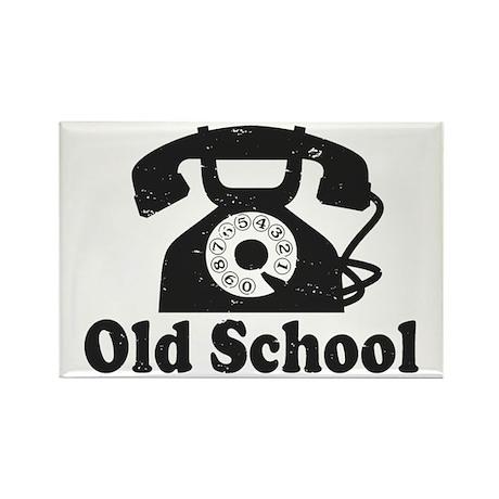 Old School Rectangle Magnet
