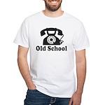 Old School White T-Shirt