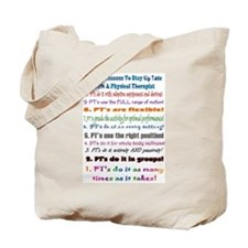 Up Late Physical Therapy Top Ten Tote Bag
