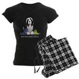 Bearded collie Women's Pajamas Dark
