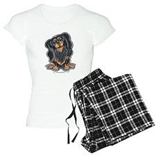 Black Tan CKCS Sit Pajamas