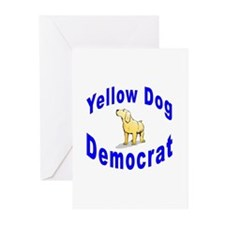 Yellow Dog Democrat Greeting Cards (Pk of 10)