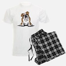 Brown White Bulldog Pajamas