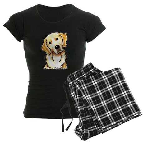 Golden Retriever Portrait Women's Dark Pajamas