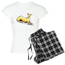 Fawn Greyhound Drawing Pajamas