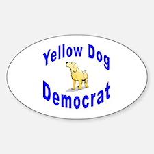 Yellow Dog Democrat Oval Decal