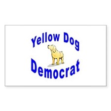 Yellow Dog Democrat Rectangle Decal