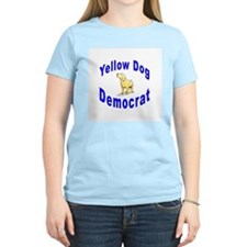 Yellow Dog Democrat Women's Pink T-Shirt