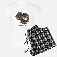 Black Tan Pomeranian Pajamas