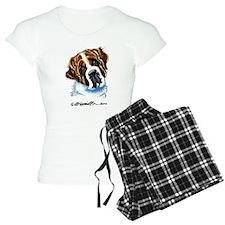 Saint Bernard Portrait Pajamas