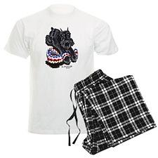 Black Schnauzer Afghan Pajamas
