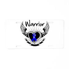 Colon Cancer Warrior Aluminum License Plate