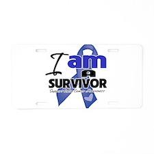 Survivor - Colon Cancer Aluminum License Plate