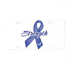 Strength - Colon Cancer Aluminum License Plate