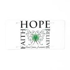 Faith Hope Liver Cancer Aluminum License Plate