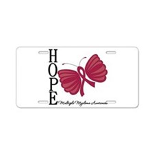 Hope Butterfly - Myeloma Aluminum License Plate