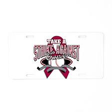 Take a Strike - Myeloma Aluminum License Plate