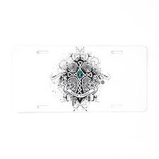 Faith Cross Ovarian Cancer Aluminum License Plate