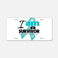 I'm a Survivor Ovarian Cancer Aluminum License Pla