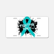 Fighting Back Ovarian Cancer Aluminum License Plat