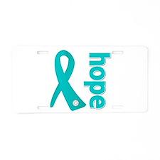 Hope Ovarian Cancer Aluminum License Plate