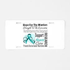 Hope Tribute Ovarian Cancer Aluminum License Plate