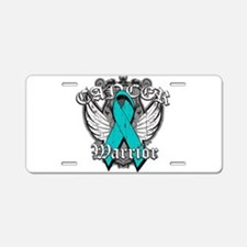 Ovarian Cancer Warrior Aluminum License Plate