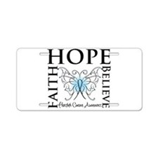 Hope Faith Prostate Cancer Aluminum License Plate