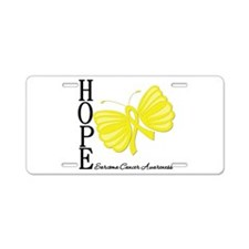 Hope Butterfly Sarcoma Aluminum License Plate