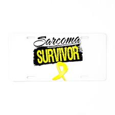 Sarcoma Survivor Aluminum License Plate