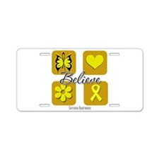 Believe Elements - Sarcoma Aluminum License Plate
