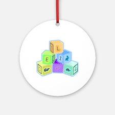 'Eli's colorful blocks Ornament (Round)