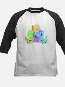 'Eli's colorful blocks Kids Baseball Jersey