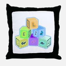 'Eli's colorful blocks Throw Pillow