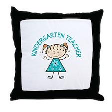 Cute Kindergarten Throw Pillow