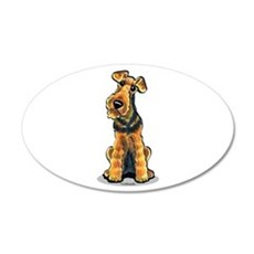 Airedale Welsh Terrier 22x14 Oval Wall Peel