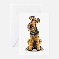 Airedale Welsh Terrier Greeting Cards (Pk of 10)